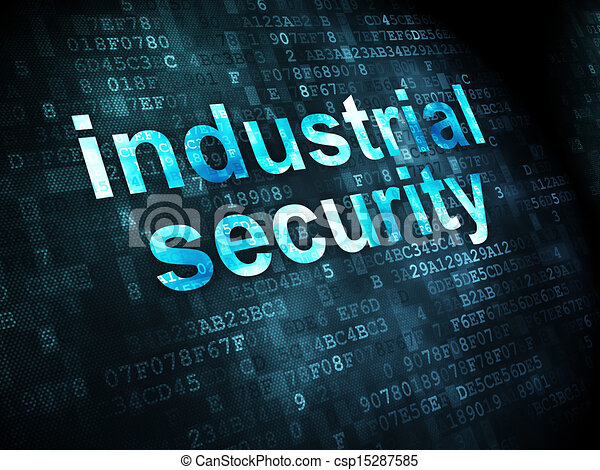 Privacy concept: Industrial Security on digital background - csp15287585