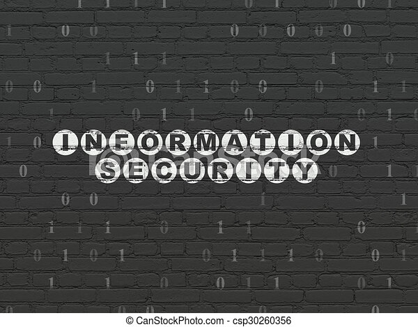 Privacy concept: Information Security on wall background - csp30260356