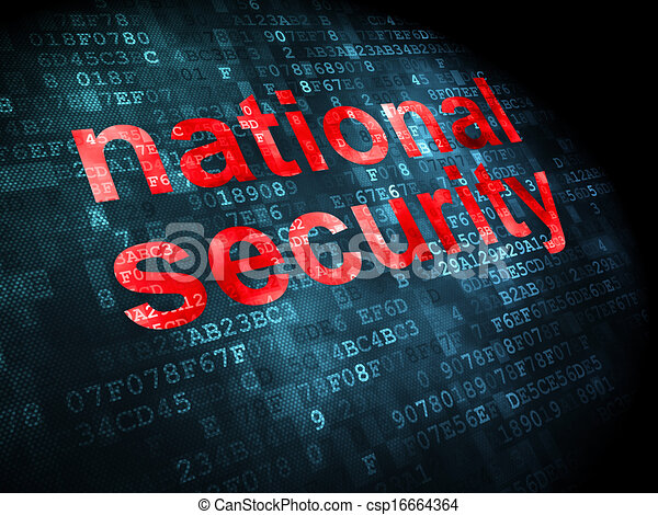 Privacy concept: National Security on digital background - csp16664364