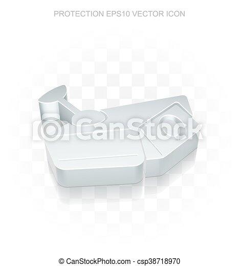Tremendous Privacy Icon Flat Metallic 3D Cctv Camera Transparent Shadow Eps 10 Vector Theyellowbook Wood Chair Design Ideas Theyellowbookinfo