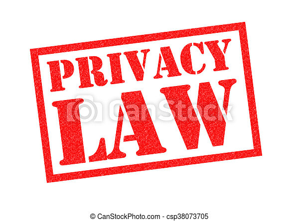 PRIVACY LAW Rubber Stamp - csp38073705
