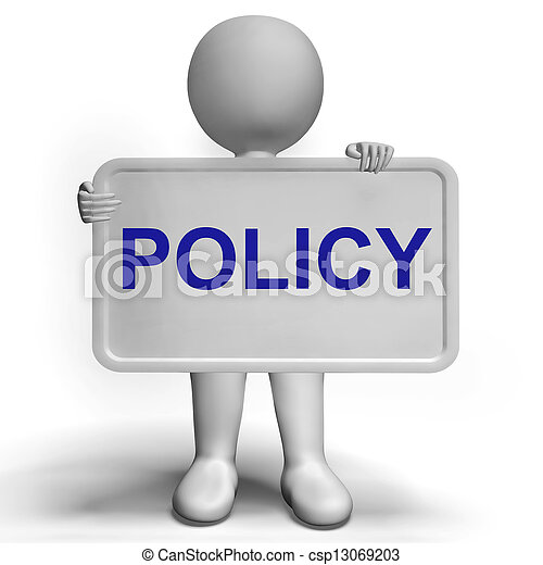 Privacy Policy Sign Shows Company Data Protection Terms - csp13069203