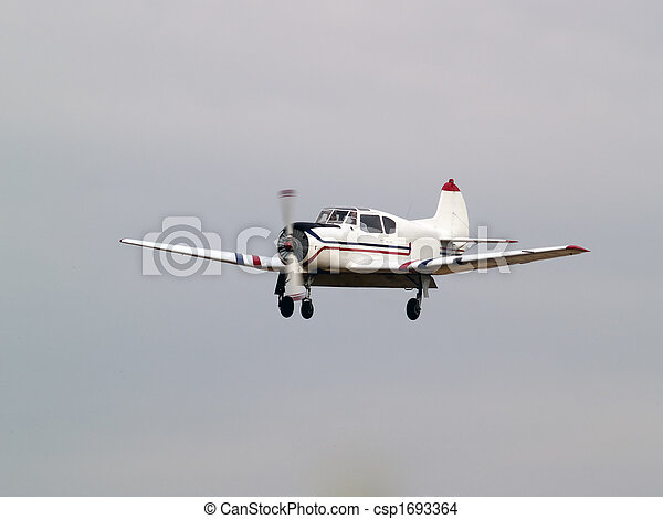 Private aircraft on final approach - csp1693364