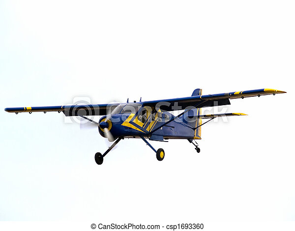 Private aircraft on final approach - csp1693360