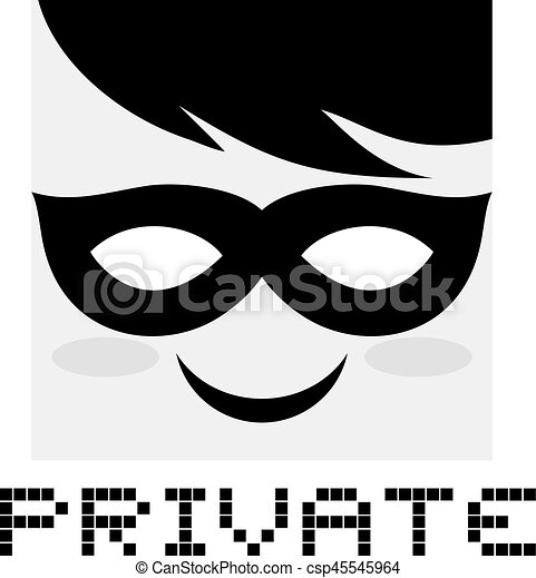 Private icon - csp45545964