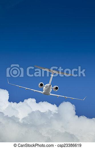 Private Jet inflight - csp23386619