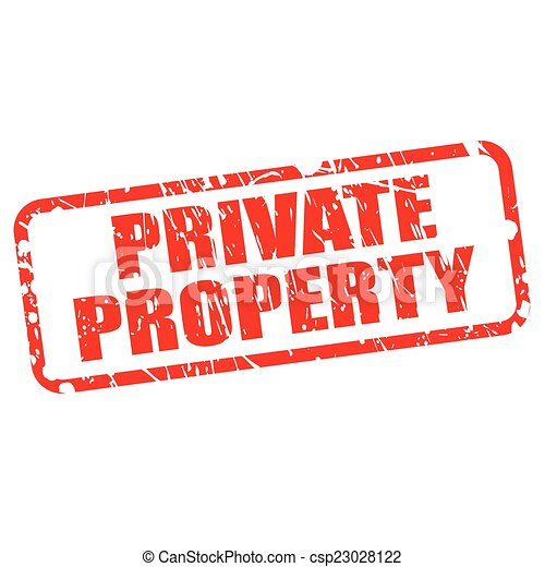 Private property red stamp text - csp23028122
