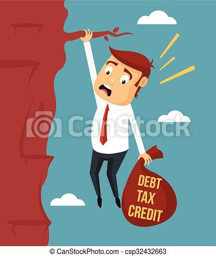 El hombre de negocios se esfuerza por mantener - csp32432663