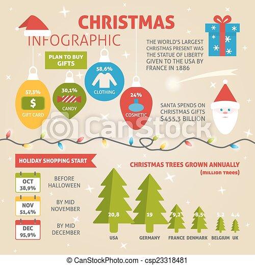 Tabellen, -, icons., probe, infographic, daten, weihnachten ...