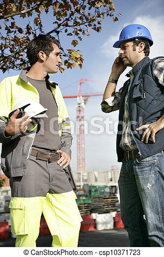 problème, ouvriers construction, maniement - csp10371723