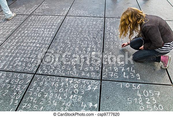 problème, trottoir, math - csp9777620