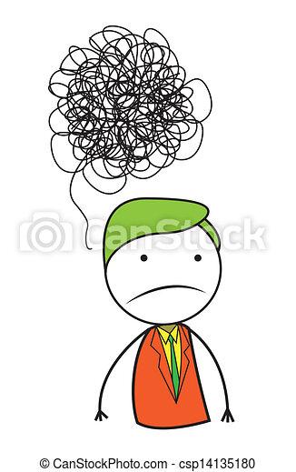 problem, człowiek - csp14135180