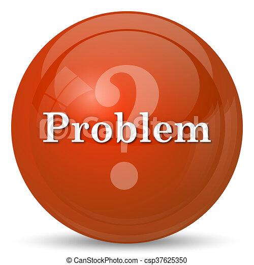 Problem icon. internet button on white background.