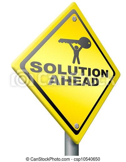 problem löst, loesung, voraus - csp10540650