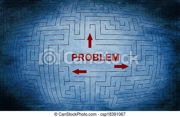 Problem maze concept - csp18391067