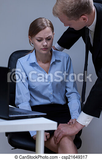 Problem of sexual harassment at work - csp21649317