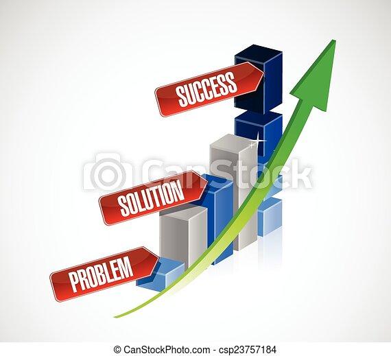 problem, solution, success business - csp23757184