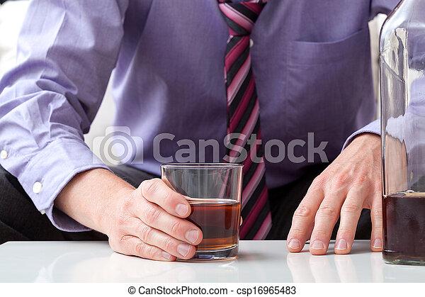 problema, alcohol, hombre - csp16965483
