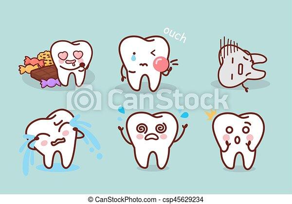 problema, decadência dente - csp45629234