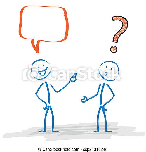 Problemas de comunicación Stickman - csp21318248