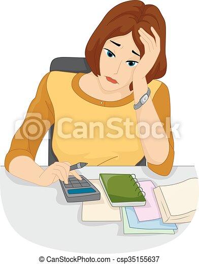 Las cuentas de chicas son calculadoras - csp35155637