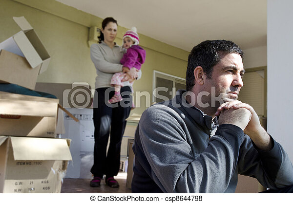 problemi, -, famiglia, senzatetto - csp8644798