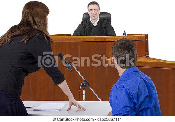 procès, salle audience - csp25867111