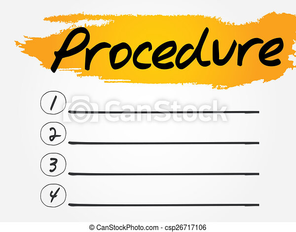 procedure blank list vector concept background