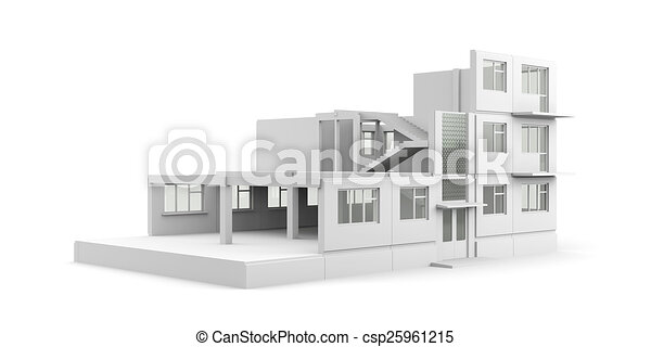 proces, huizenbouw - csp25961215