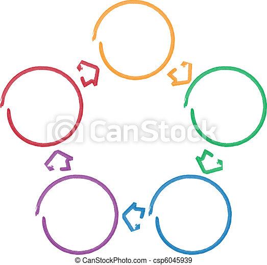 proceso, diagrama, relación, empresa / negocio - csp6045939