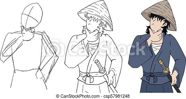 Proceso de samurai - csp57981248