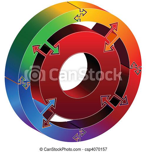 Process Chart Rainbow - csp4070157