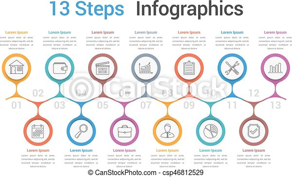 Process diagram template infographic template with 13 spteps or process diagram template csp46812529 ccuart Image collections