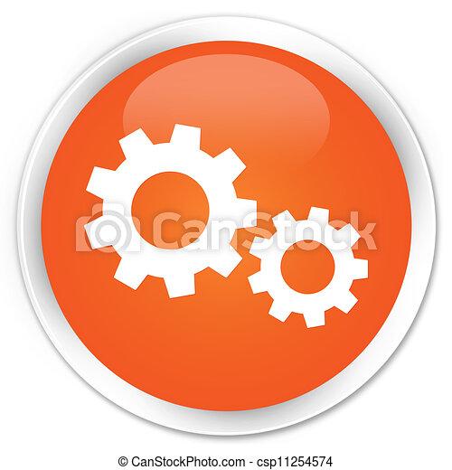 Process icon orange button - csp11254574