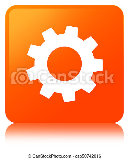 Process icon orange square button - csp50742016