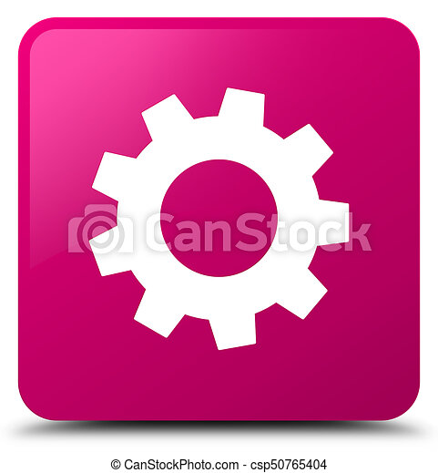 Process icon pink square button - csp50765404