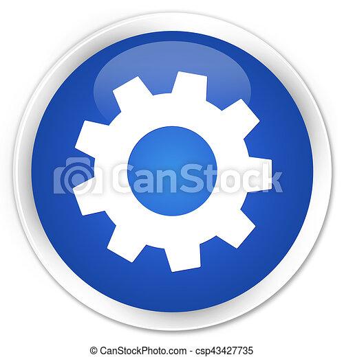 Process icon premium blue round button - csp43427735