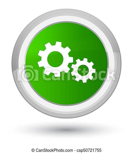 Process icon prime green round button - csp50721755