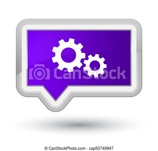 Process icon prime purple banner button - csp50749947