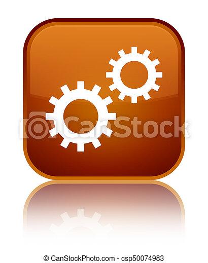 Process icon special brown square button - csp50074983