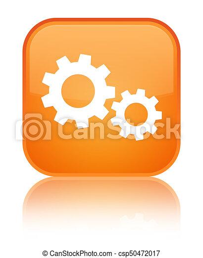Process icon special orange square button - csp50472017