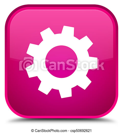 Process icon special pink square button - csp50692621