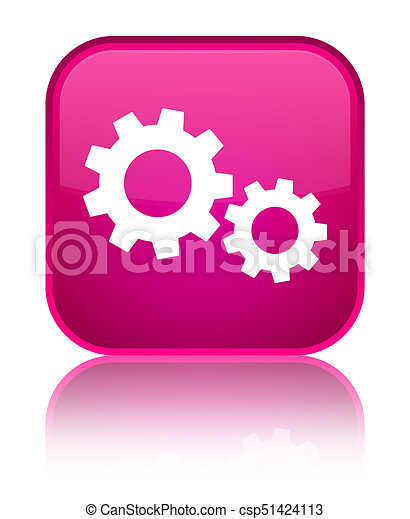 Process icon special pink square button - csp51424113