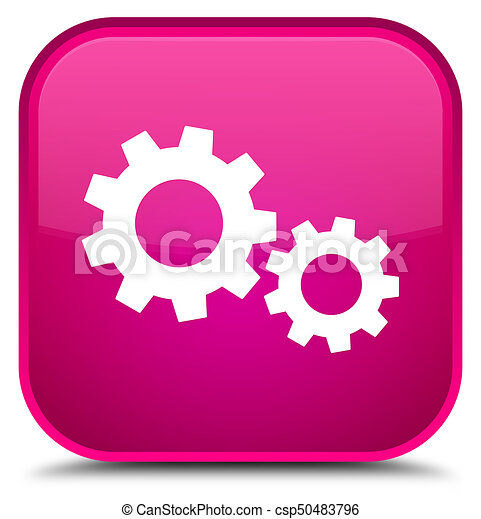 Process icon special pink square button - csp50483796