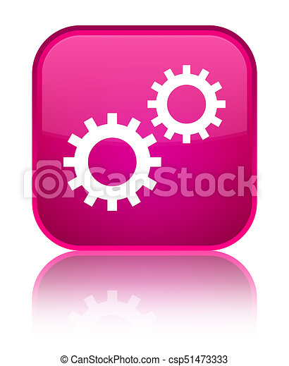 Process icon special pink square button - csp51473333