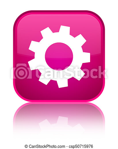 Process icon special pink square button - csp50715976