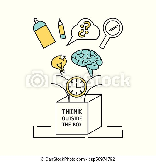 Process Ideas To Creative Imagination And Innovation Vector