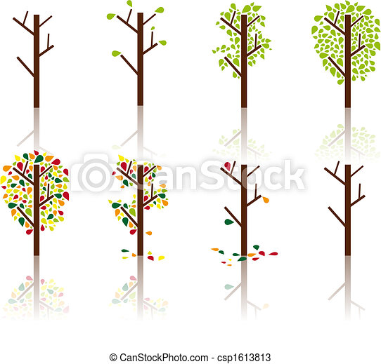 Process of a tree - Vector image - csp1613813