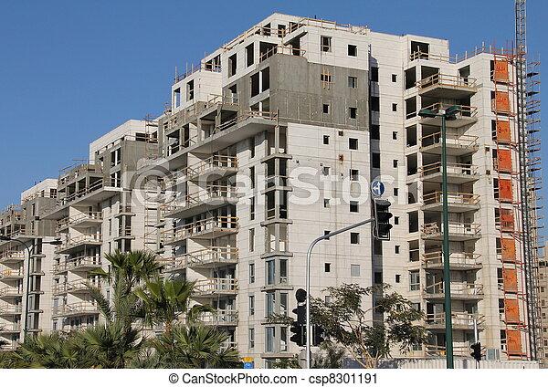 Process of construction a building - csp8301191
