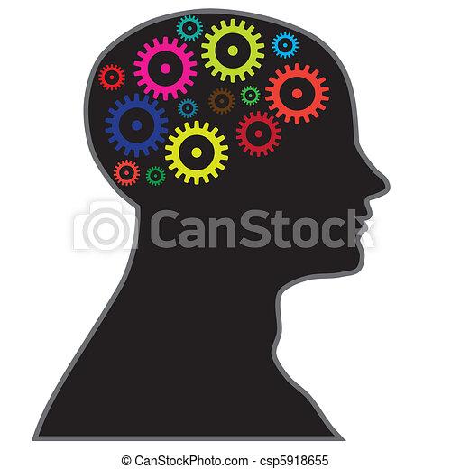 processo, cervello, informazioni - csp5918655